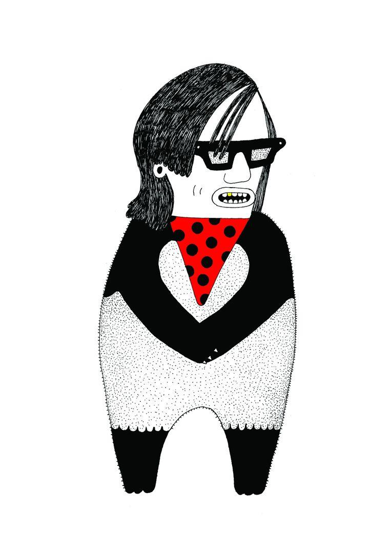 Pepijn Lanen als panda. Beeld Saša Ostoja