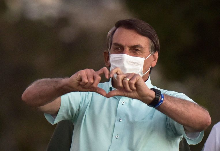 De Braziliaanse president Jair Bolsonaro. Beeld EPA