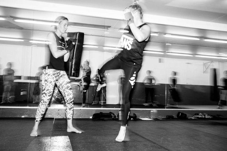 'De boksers zijn al trainend vastgelegd, waardoor het lijkt alsof ze dansen' Beeld Siomara van Bochove