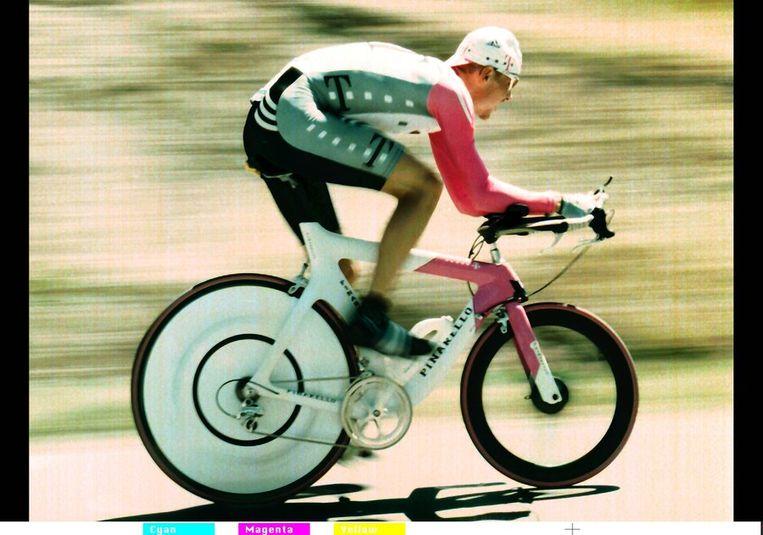 Jan Ullrich, de nummer 2 van 1998. Hij bekende eerder al dopinggebruik. Beeld null