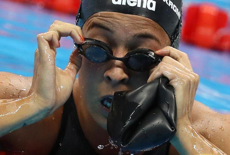 Kromowidjojo plaatste zich voor de finale van de 100 meter vrij met de zevende tijd. Beeld reuters