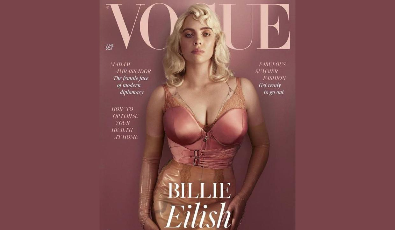 Billie Eilish op de cover van Voque Beeld Voque