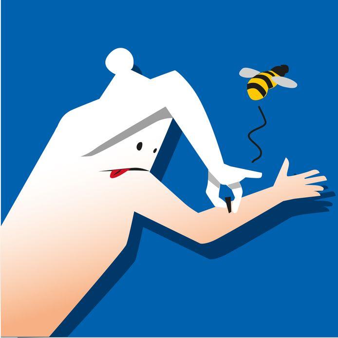 Na een wespenbeet is het belangrijk om het wondje goed schoon te maken.