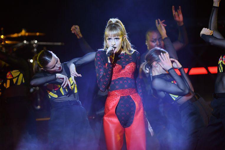 De Belgische zangers Angèle.  Beeld Corbis via Getty Images