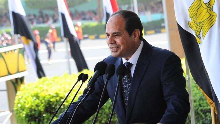 De president van Egypte, Abdel-Fattah el-Sissi. Beeld ap