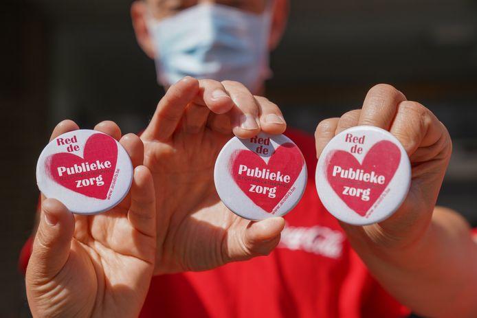 Betoging voor zorgcentrum Lozanahof tegen de privatisering van de zorg.