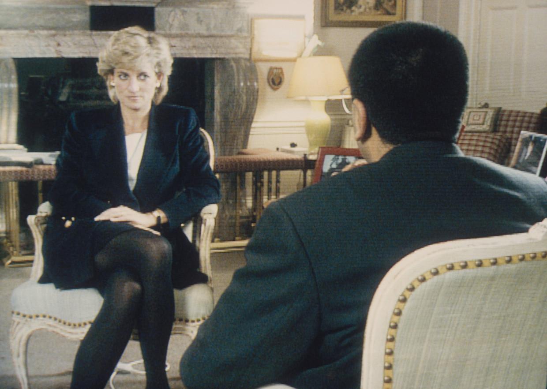 Prinses Diana in gesprek met BBC-journalist Martin Bashir.  Beeld Getty Images