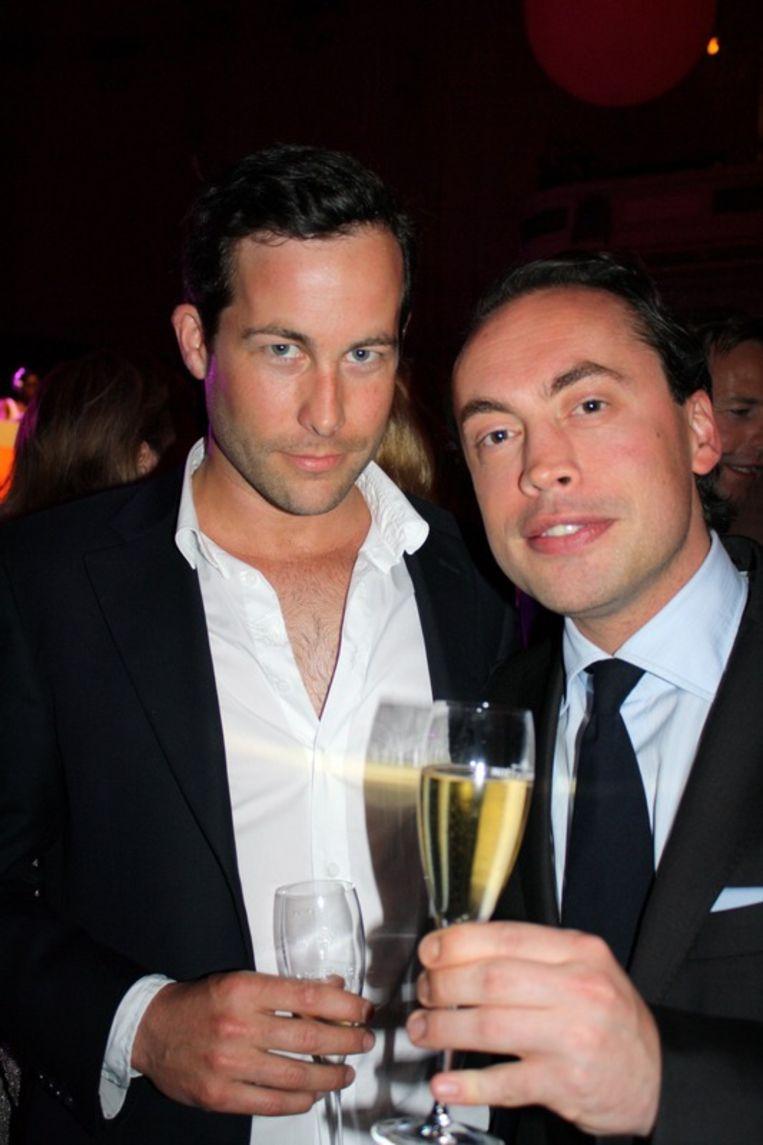 Nick van den Bichelaer, van vastgoedadviesbureau 'MiddelLanD Croatia'  (L) en Jan Willem Loor van Tiffany (R).<br /> Beeld