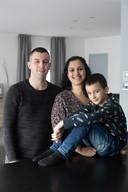 Daniel Guijo-Velasco met zijn vrouw Mari en zoon Xavi.