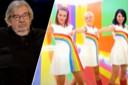 Jurylid Maarten van Rossem. Rechts: de quiz-kandidaten kregen de videoclip van 'MaMaSé' (2009) te zien.