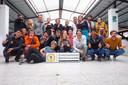 De groep toeristen die samenleefden in het Chachapoyas hostel.