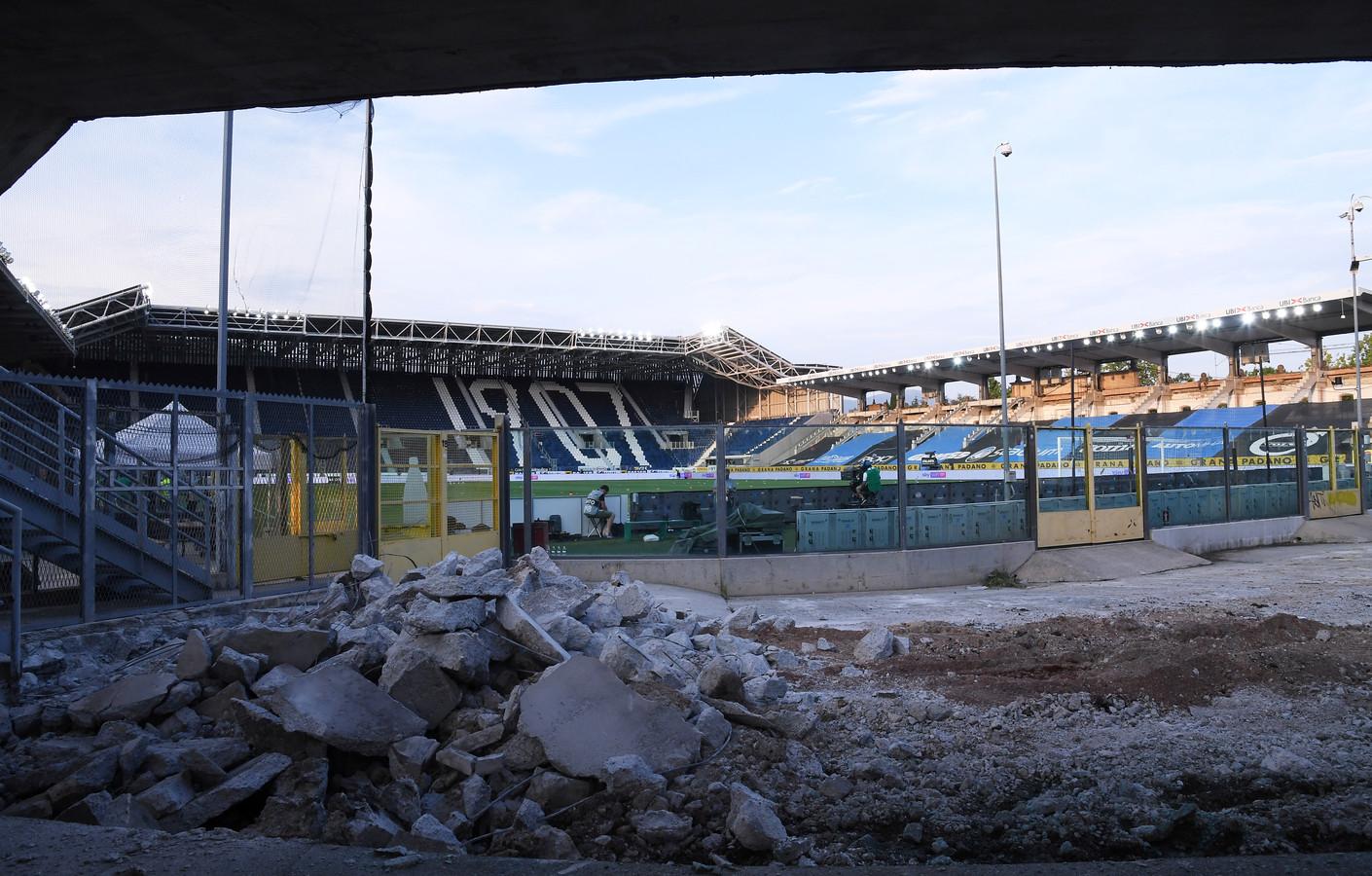 Het stadion van Atalanta is onlangs verbouwd.