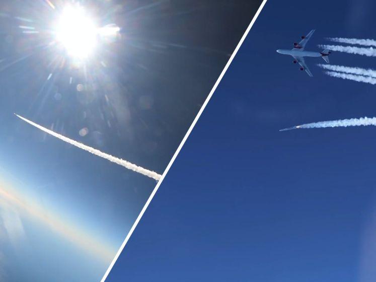 Bijzondere beelden van raketlancering vanaf Boeing 747