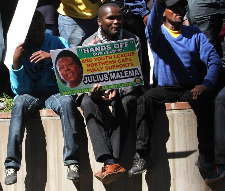 Aanhangers van Malema in Johannesburg. © ANP Beeld