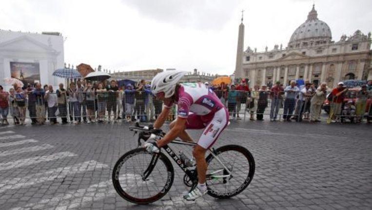 Danilo Di Luca tijdens de Ronde van Italië in 2009. ANP Beeld
