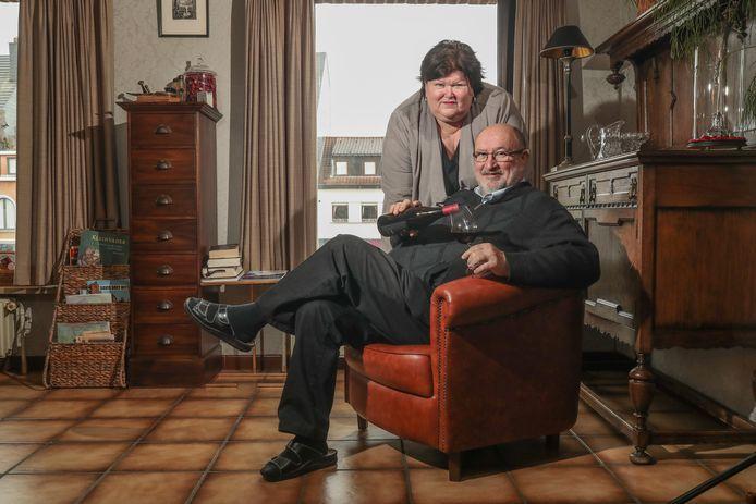 Luc Asselman et son épouse Maggie De Block dans leur maison à Merchtem, en février dernier.