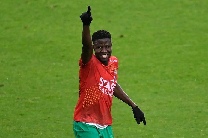 Makhtar Gueye scoorde dit seizoen al dertien keer voor KV Oostende, waarvan elf doelpunten in de competitie.