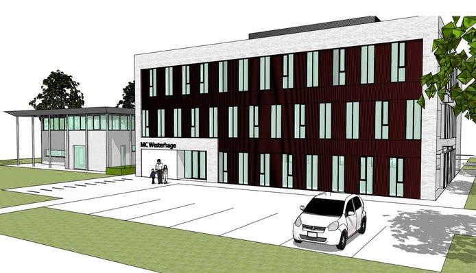 Het Medisch Centrum Westerhage moet verrijzen in het ode Atea-pand aan de Muizenberglaan in Breda.
