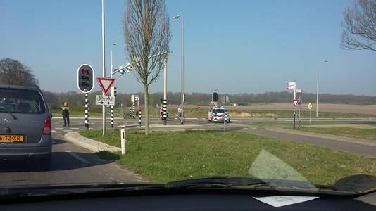 De Schelmseweg was ten tijde van de brand aan beide zijden afgesloten.