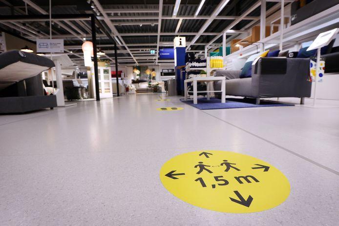 Coronamaatregelen bij de Ikea.