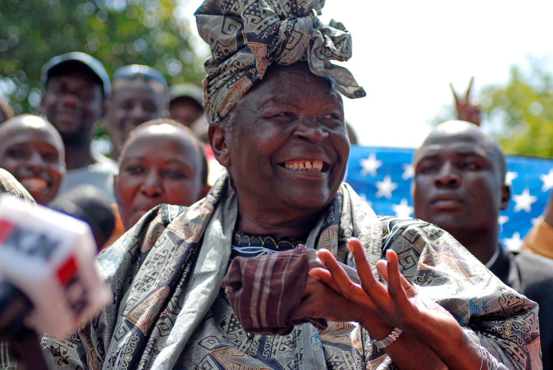 Mama Sarah Obama, stiefoma van de voormalige president Barrack Obama. EPA/JACOB WIRE
