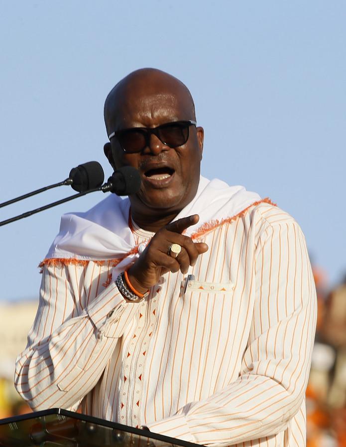 Archieffoto van  president Roch Marc Christian Kaboré van Burkina Faso.
