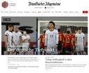 De website van de Frankfurter Allgemeine Zeitung.
