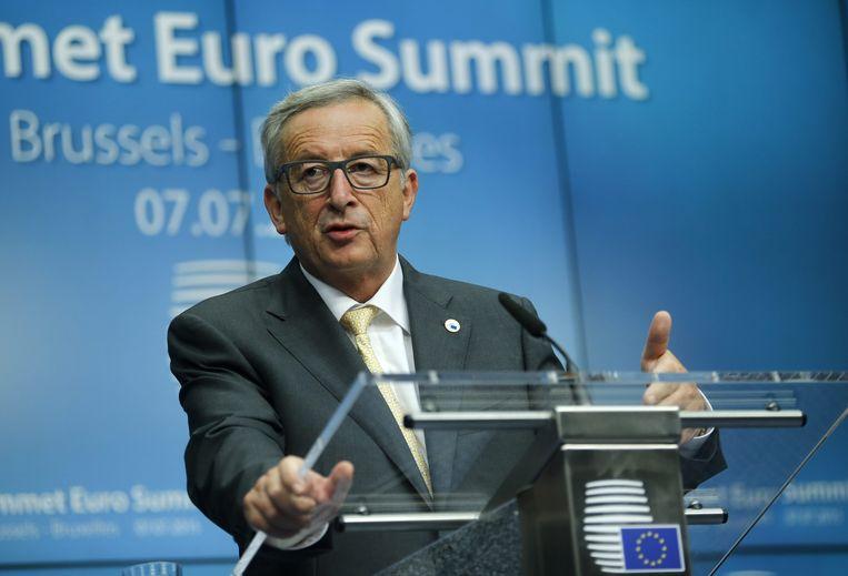 Commissievoorzitter Jean-Claude Juncker. Beeld EPA