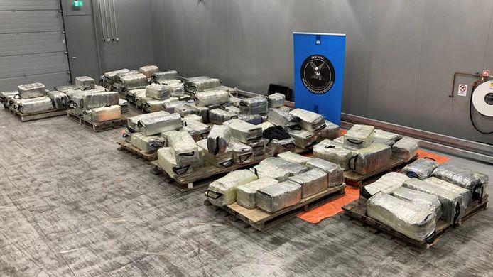 De 4022 kilo cocaïne heeft een straatwaarde van ruim 301 miljoen euro.