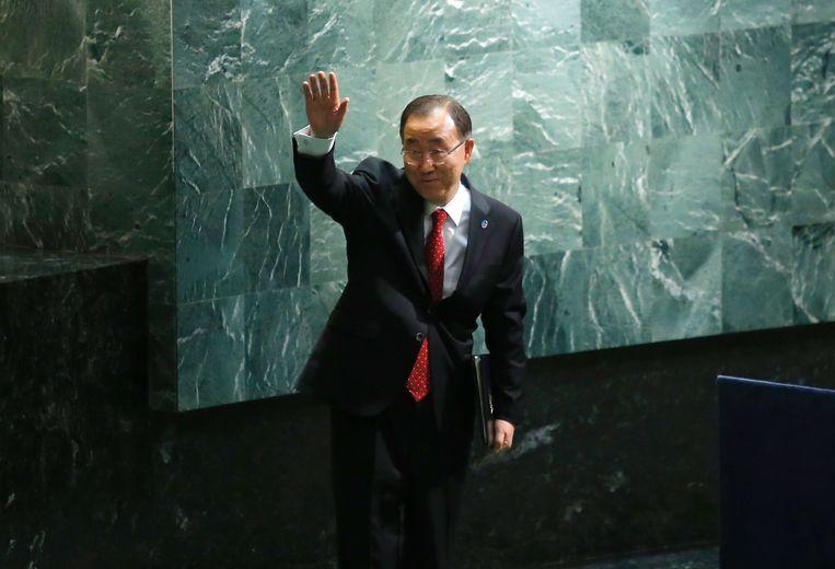 Huidig secretaris-generaal Ban Ki-moon.  Beeld AFP