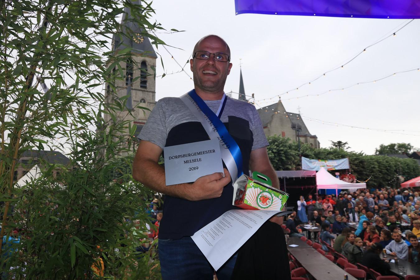 Maarten Pijl is de nieuwe dorpsburgemeester van Melsele.
