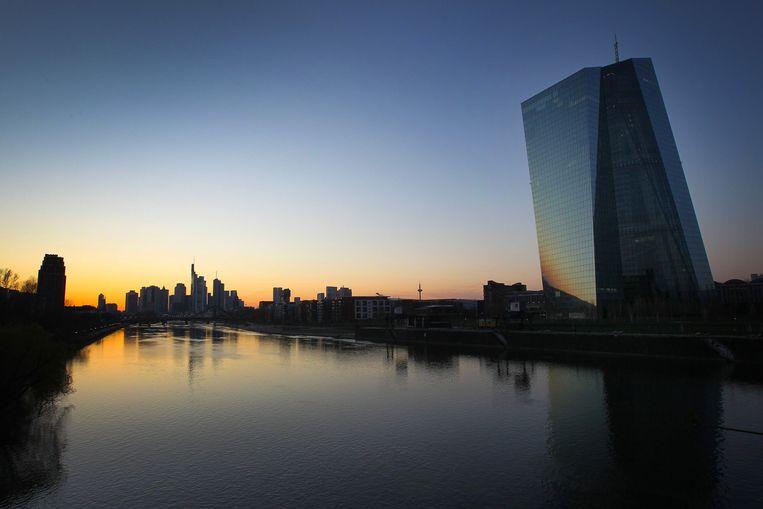De Europese Centrale Bank (ECB) in Frankfurt, Duitsland.  Beeld AFP / Daniel Roland