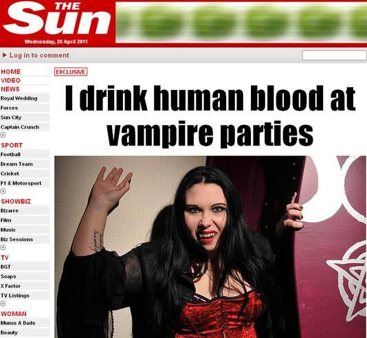 Pyretta est un vampire. Elle boit du sang humain une fois par mois.