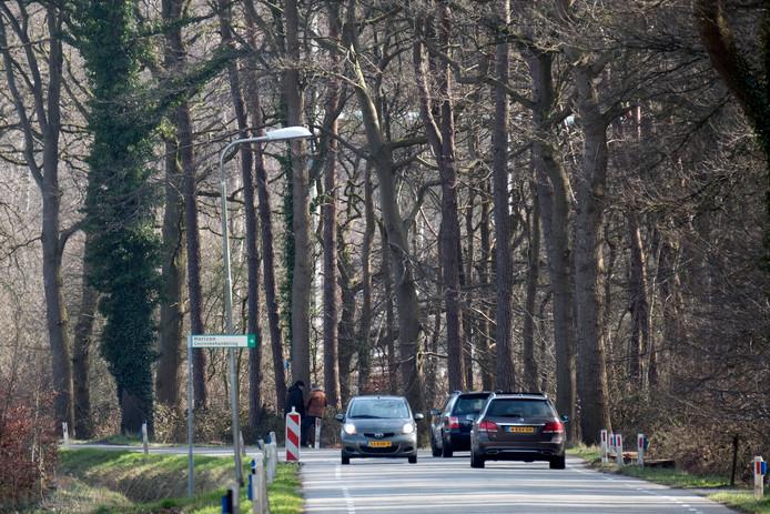 Archieffoto van de Corleseweg in Winterswijk, waar vaak te hard wordt gereden.