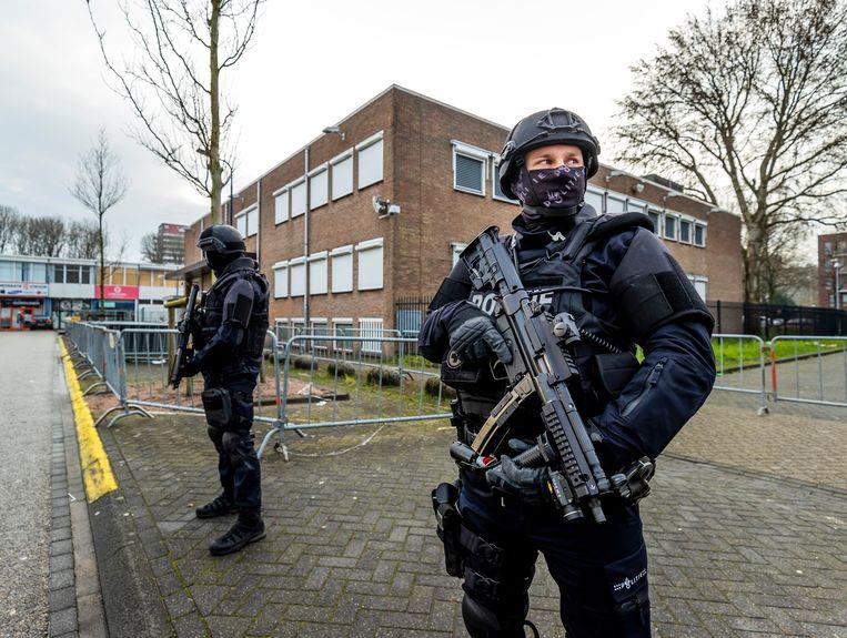 De zwaarbeveiligde 'bunker' van de rechtbank in Amsteram-Osdorp. Beeld ANP