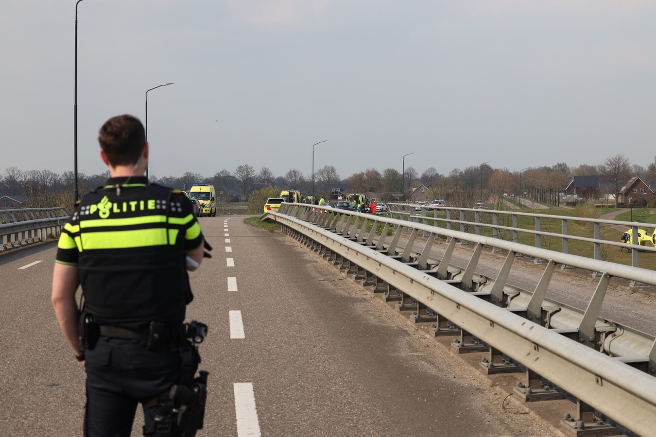Het ongeluk op de Vorstenbosscheweg in Veghel.