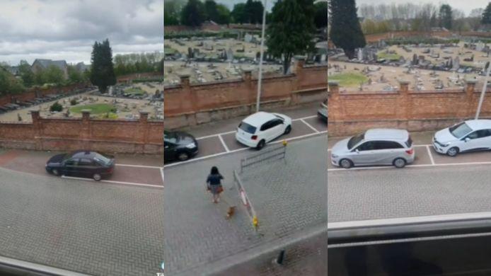 Hasselaar Kjell ziet én filmt de vreemdste parkeermanoeuvres, juist tegenover zijn woning.