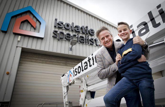 Pieter Schoen en de 11-jarige Stefan Anker uit Moerkapelle.