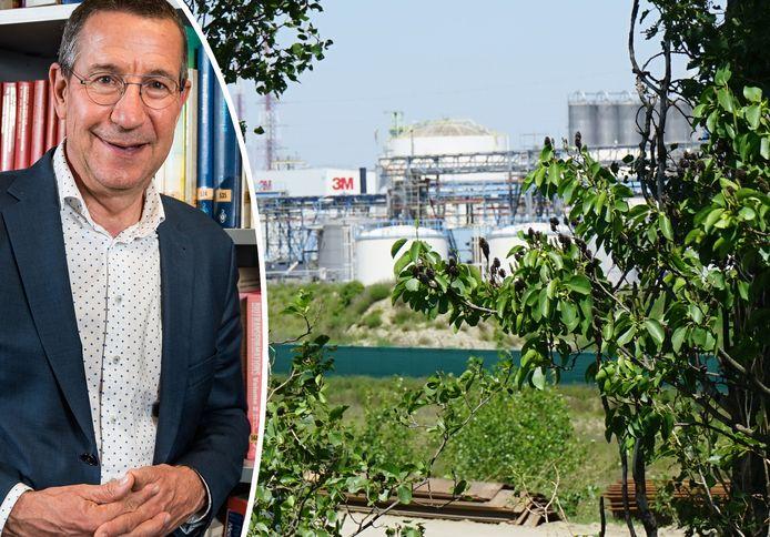 reportage Zwijndrecht bodemvervuiling - zicht op 3M