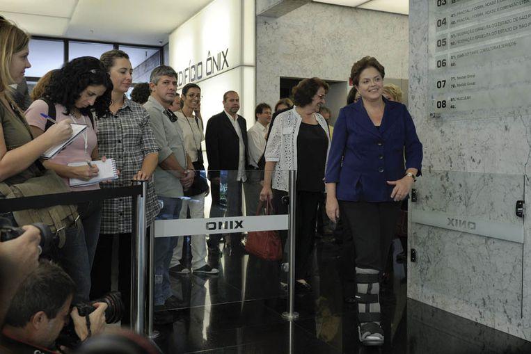 Dilma Rousseff is de grote favoriet. (AFP) Beeld AFP