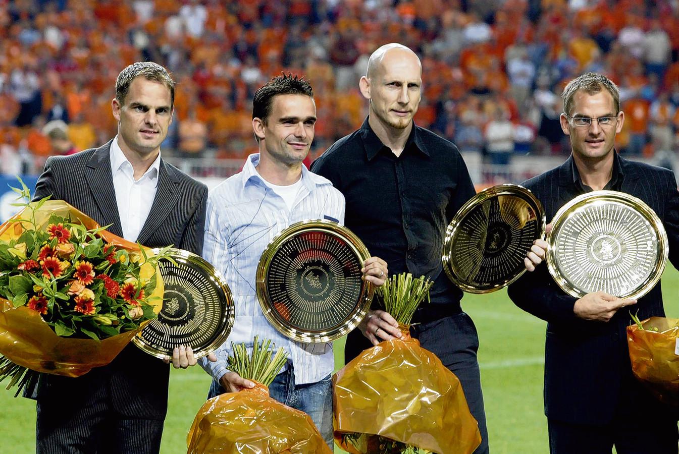 Op 8 september 2004 wint Oranje in een WK-kwalificatieduel met 2-0 van Tsjechië door twee goals van Pierre van Hooijdonk. In de rust neemt het publiek afscheid van Frank de Boer, Marc Overmars, Jaap Stam en Ronald de Boer.