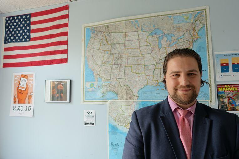 'Robert McCaw, Council On American Islamic Relations, de belangrijkste belangengroep van de Amerikaanse moslimgemeenschap. Beeld rv