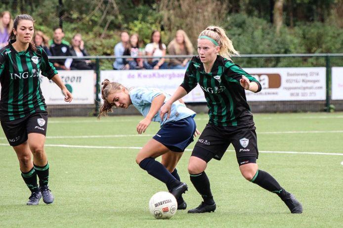 Michelle van der Laan in actie namens Trekvogels.