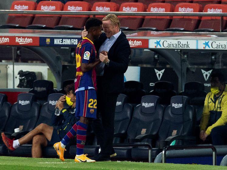 Swingende eerste helft bezorgt Koeman droomstart in Barcelona