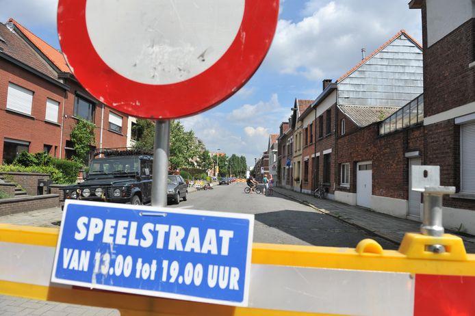 Een voorbeeld van een speelstraat in Berchem.
