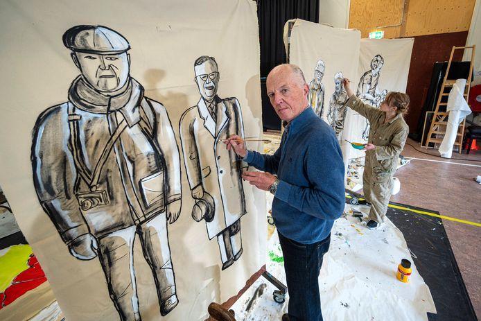Portretschilder Ton ten Broek.