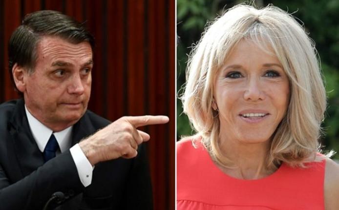 Jair Bolsonaro et Brigitte Macron.