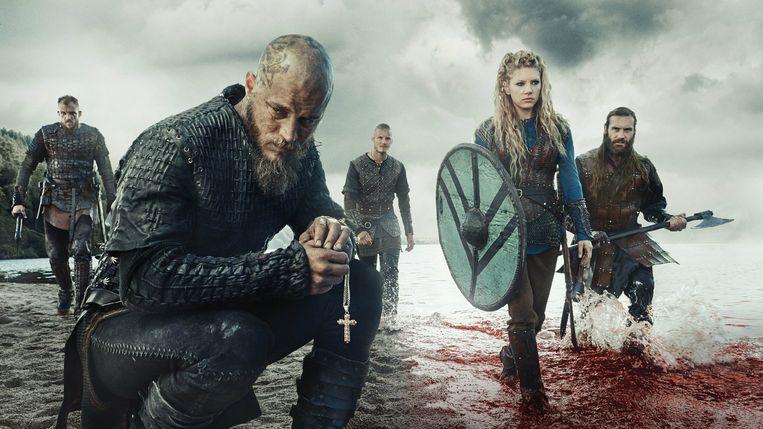 Travis Fimmel (Ragnar Lothbrok) en Katheryn Winnick (Lagertha Lothbrok) Beeld jp
