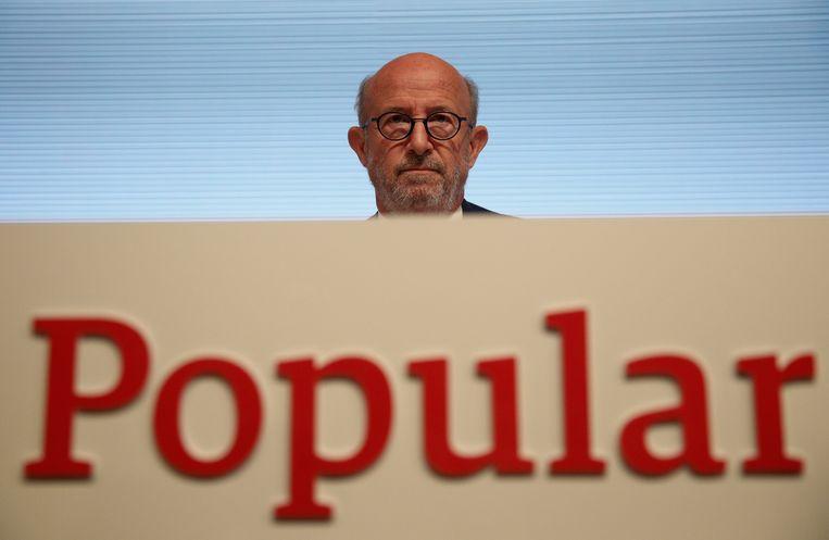 CEO van de Banco Popular, Emilio Saracho. Beeld REUTERS