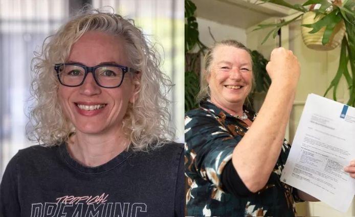 Margitta Rodrigues das Chagas-Meerman (links) en Tannetje van der Wekken.